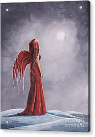 Queen Of The Winter Nights By Shawna Erback Acrylic Print by Shawna Erback