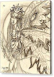 Queen Rhiannon Acrylic Print by Coriander  Shea