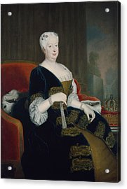 Queen Sophia Dorothea Of Hanover Oil On Canvas Acrylic Print