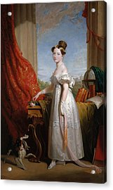 Queen Victoria When Princess Acrylic Print by George Hayter