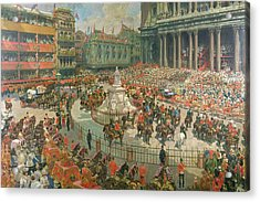 Queen Victorias Diamond Jubilee, 1897 Acrylic Print by G.S. Amato