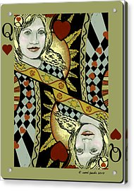 Queen's Card II Acrylic Print by Carol Jacobs