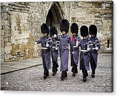 Queens Guard Acrylic Print by Heather Applegate
