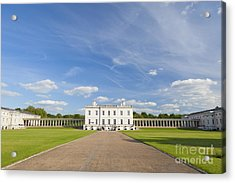 Queen's House In Greenwich Acrylic Print by Roberto Morgenthaler