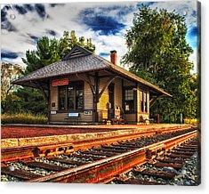 Queponco Railway Station Acrylic Print