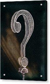Question Mark Acrylic Print by Tom Mc Nemar