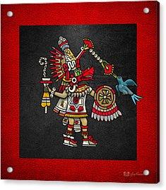Quetzalcoatl In Human Warrior Form - Codex Magliabechiano Acrylic Print by Serge Averbukh