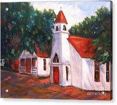 Acrylic Print featuring the painting Quiant Arkansas Church by Marcia Dutton