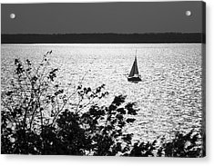 Quick Silver - Sailboat On Lake Barkley Acrylic Print