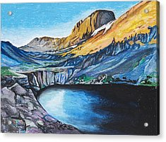 Quick Sketch - Kit Carson Peak Acrylic Print by Aaron Spong