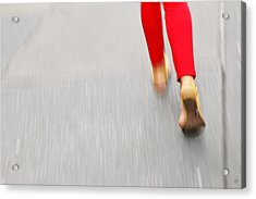 Quick Step Acrylic Print by Karol Livote