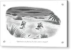 Quicksand Or Acrylic Print