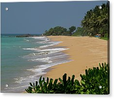 Quiet Beach Along A2 Road, Betota Acrylic Print by Panoramic Images