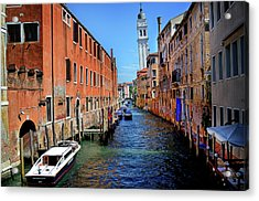 Quiet Canal Acrylic Print by James David Phenicie