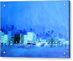 Quiet City Night Acrylic Print