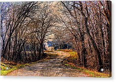 Quiet Country Road Acrylic Print
