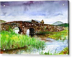 Quiet Man Bridge Ireland Acrylic Print by John D Benson