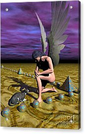 Acrylic Print featuring the digital art Quiet Moment by Sipo Liimatainen