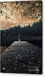 Quiet Moments Series Acrylic Print by Rebecca Parker