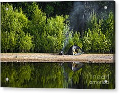 Quiet Morning Acrylic Print by Svetlana Sewell