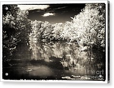 Quiet On The Pond Acrylic Print by John Rizzuto