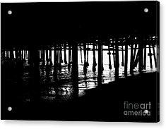 Quiet Pier Pillars Acrylic Print
