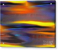 Soft Rain Acrylic Print by Yul Olaivar