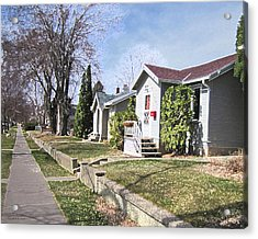 Quiet Street Waiting For Spring Acrylic Print