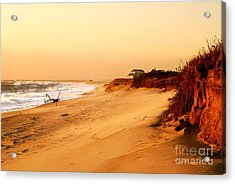 Quiet Summer Sunset Acrylic Print by Sabine Jacobs