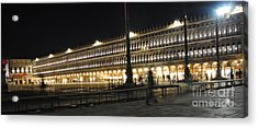 Quiet Time In Piazza San Marco Acrylic Print by Jacqueline M Lewis