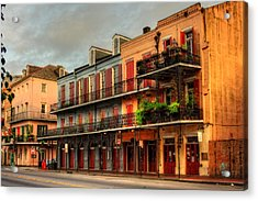 Quiet Time On Decatur Street Acrylic Print by Chrystal Mimbs