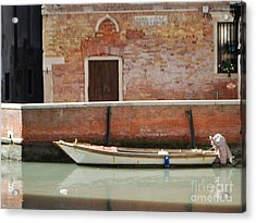 Quiet Venice Acrylic Print by William Wyckoff