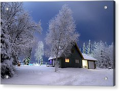Quiet Winter Times Acrylic Print by Ron Day