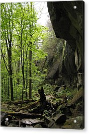 Quilliams Cave Acrylic Print by Melinda Fawver