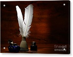 Quills And Inkwells Acrylic Print by Olivier Le Queinec