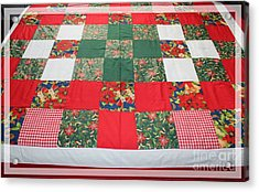 Quilt Christmas Blocks Acrylic Print by Barbara Griffin