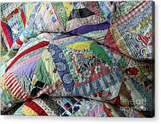 Quilt Of Many Colors Acrylic Print