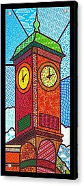 Quilted Clock Tower Acrylic Print by Jim Harris