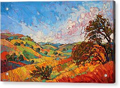 Quilted Color Acrylic Print by Erin Hanson