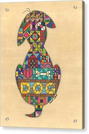 Quilted Dog Acrylic Print