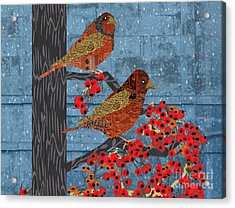 Acrylic Print featuring the digital art Sagebrush Sparrow Short by Kim Prowse