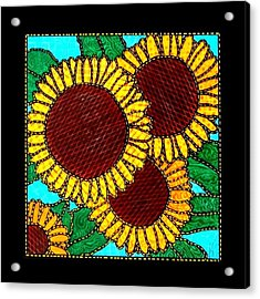 Quilted Sunflowers Acrylic Print by Jim Harris