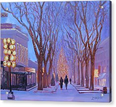 Quincy Market At Twilight Acrylic Print
