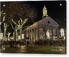Quincy Market Boston Massachusetts Acrylic Print by Juli Scalzi