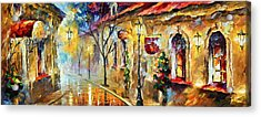 Quite Morning Acrylic Print by Leonid Afremov