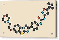 Quizartinib Drug Molecule Acrylic Print by Molekuul