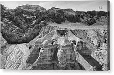 Qumran Caves Bw Acrylic Print