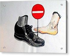 Acrylic Print featuring the painting Quo Vadis by Lazaro Hurtado