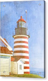Quoddy Lighthouse Lubec Maine Acrylic Print by Carol Leigh