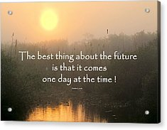 Quote On Sunrise-2 Acrylic Print by Rudy Umans